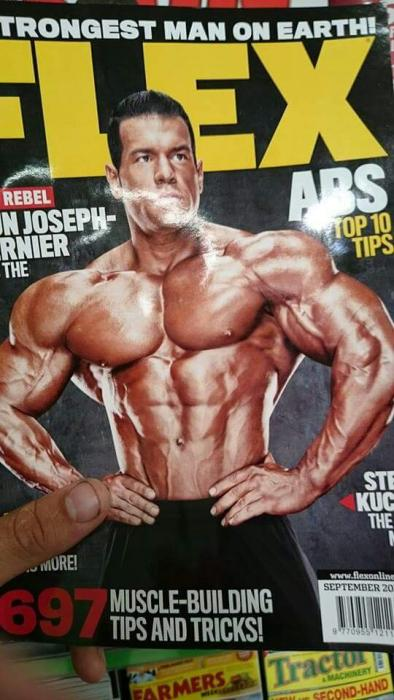 Steve kuclo pro ifbb on flex cover!