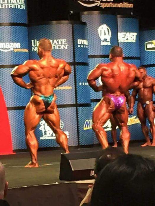 Flex Lewis vs Jose Raymond on the Olympia 2015 stage