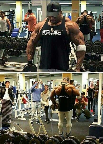 Cedric mcmillan in the gym!
