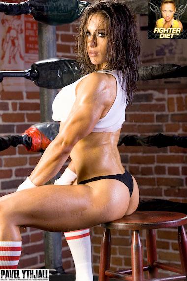 Pauline Nordin boxing photo shoot