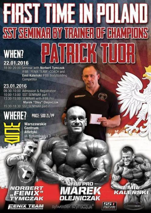 Bodybuilding seminar: Patrick Tuor in Poland