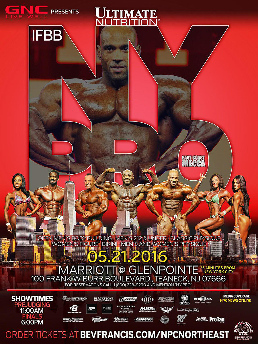 2016 Bodybuilding Event Schedule and Show List