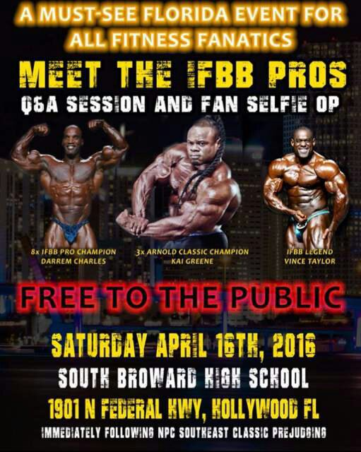 Meet pro ifbb on 16 april 2016