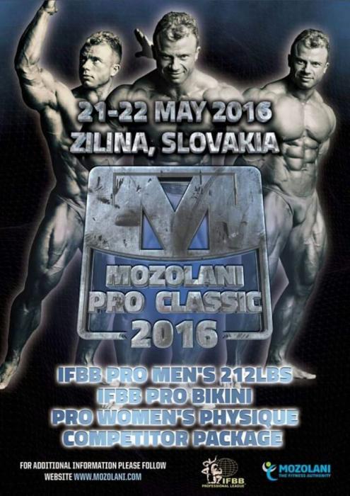 2016 Mozolani Classic Pro IFBB