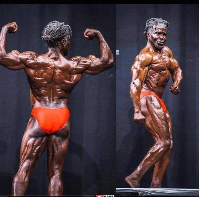 Roby Robinson, the black prince, at 70 years old still shredded.