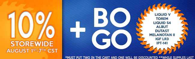 BOGO Sale with 10% off EVERYTHING!