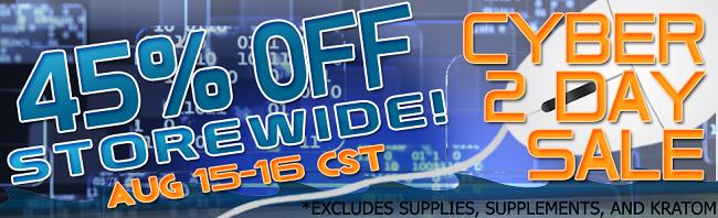 Cyber 2day 45% Off Storewide!