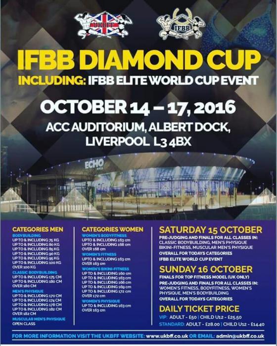 IFBB Diamond Cup 2016 UK