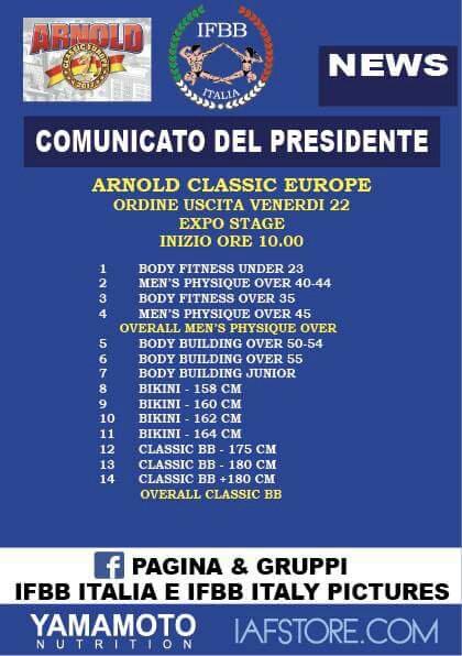 2017 Arnold Classic Europe