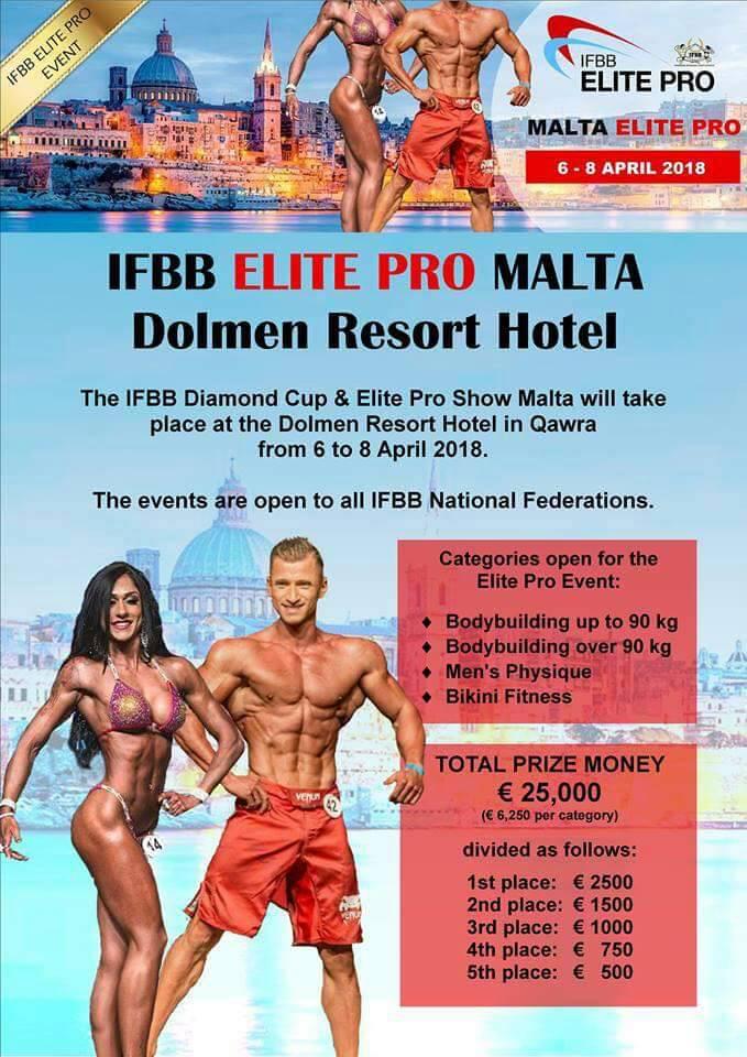 2018 IFBB Diamond Cup and Elite Pro Show Malta