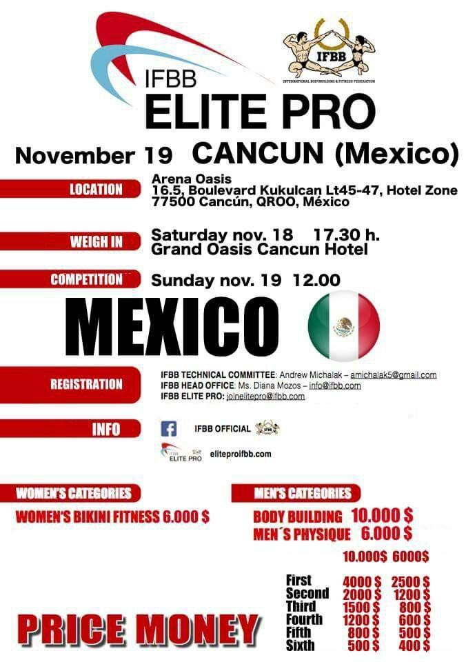 2017 IFBB Elite Pro Mexico