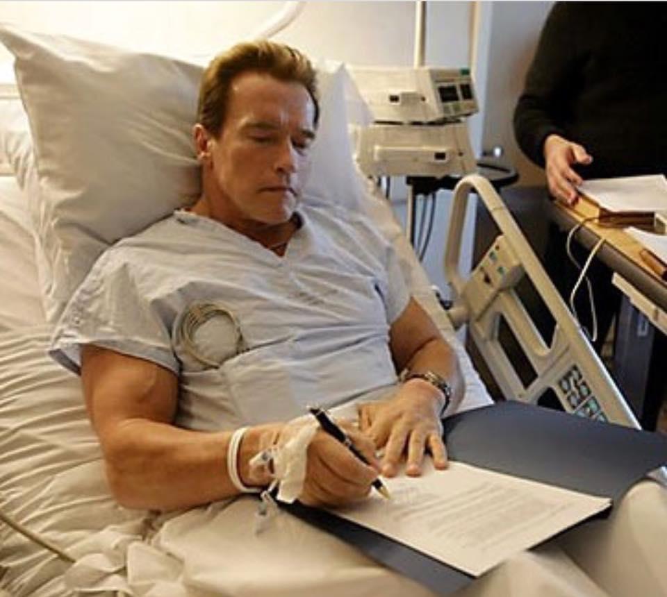 Arnold Schwarzenegger had open heart surgery