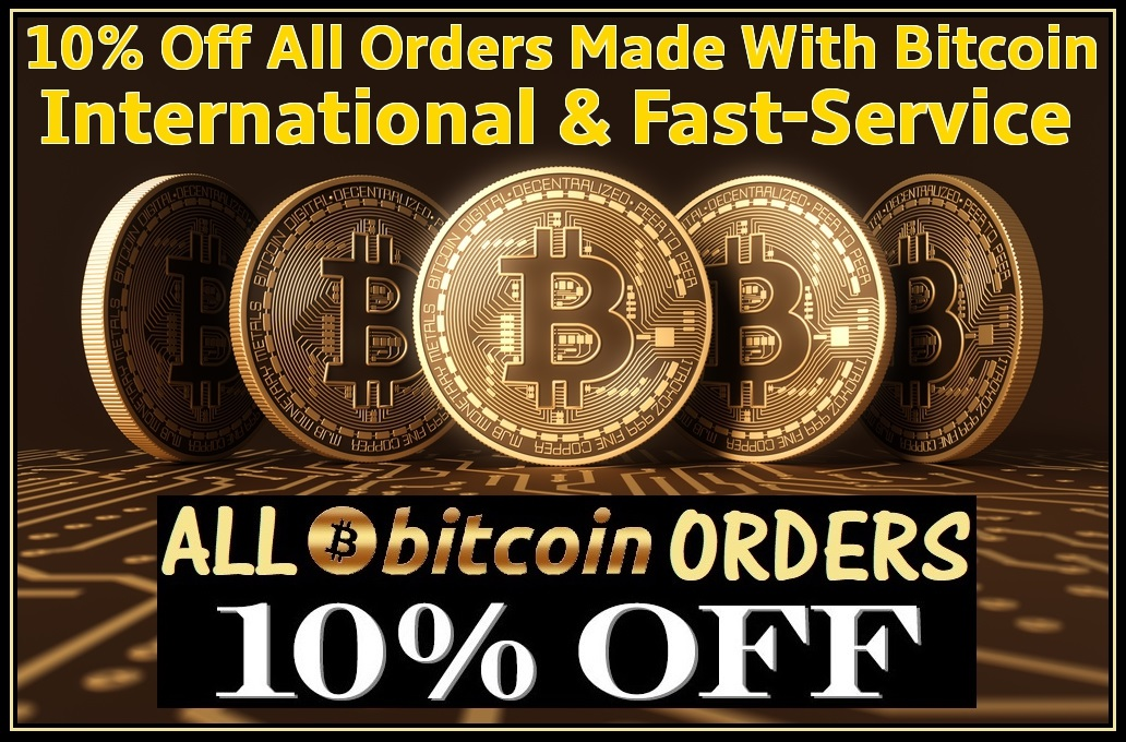 ALL orders with HUGE savings using BTC (Start saving NOW)