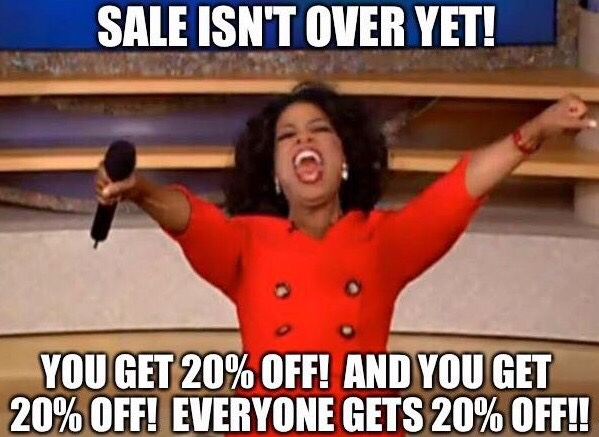"MEGA SALE ""WHAT A DEAL"" Last one so stock up!"