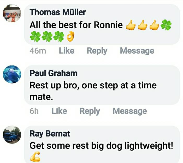 Send Ronnie Coleman your messages and prayers