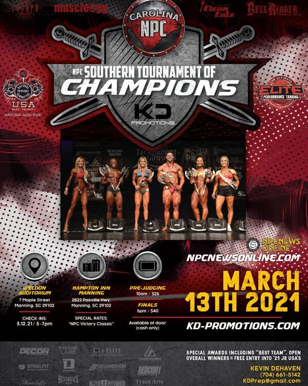 2020 NPC Southern Tournament of Champions Contest Photos and Info